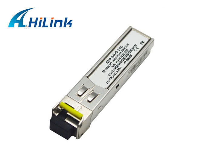 40km 1310nm / 1550nm SFP Optical Transceiver Module Digital Diagnostics Monitoring